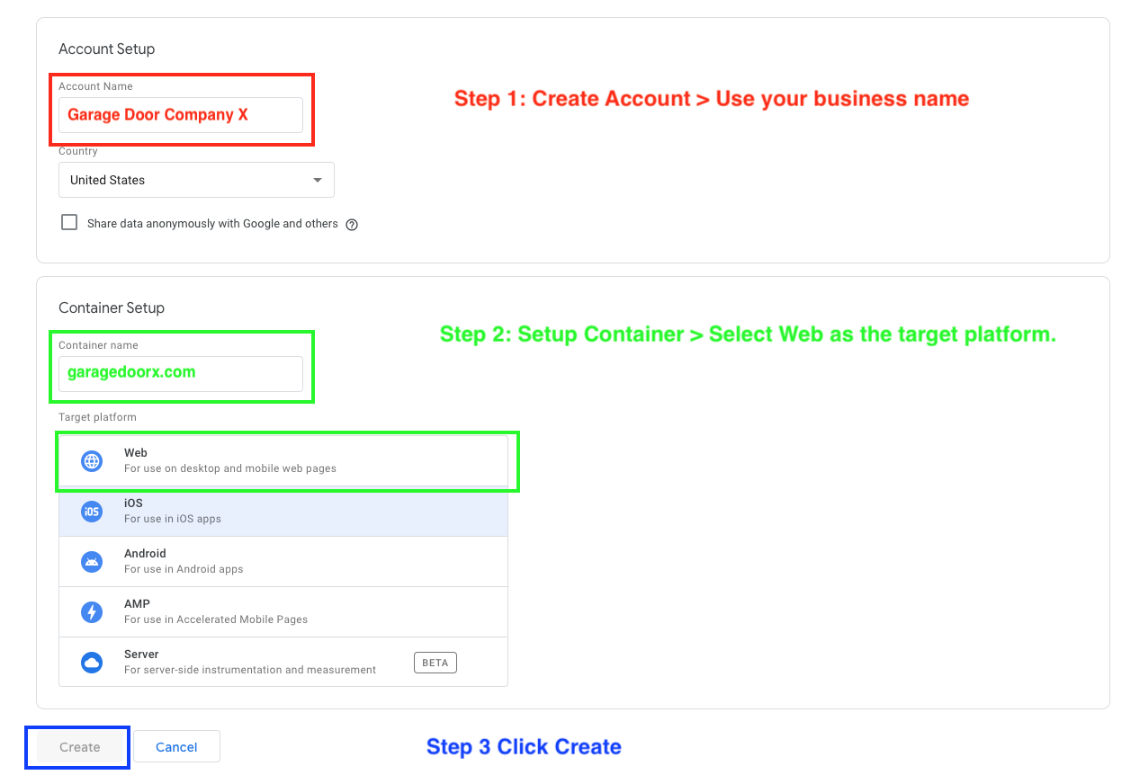 3 quick steps to set up Google Tag Manager